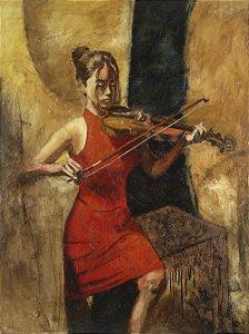 Arte Contemporânea Quadro Decorativo Tela Strings 80 x 60 cm