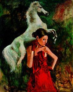 Arte Contemporânea Tela Sweet Wild 80 x 60 cm