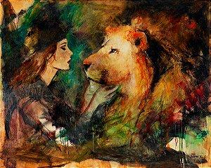Arte Contemporânea Tela O Noivo e a Noiva 60 x 80 cm