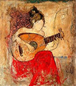 Arte Contemporânea Tela Vanessa 80 x 60 cm