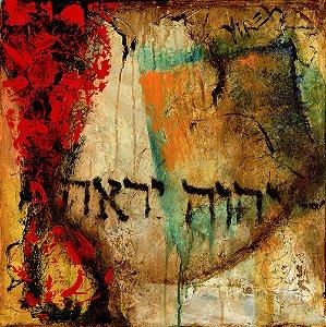 Arte Contemporânea Tela Yireh 70 x 70 cm