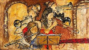 Quadro Decorativo Tela Classic Room Concert 60 x 100 cm