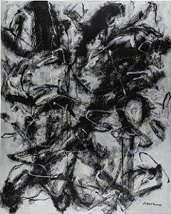 Quadro Decorativo Tela Noir D'ivoire 100 x 75 cm