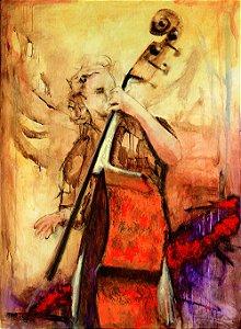Quadro Decorativo Tela Powerful Cello 100 x 80 cm