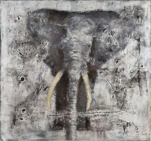 Quadro Decorativo Tela Wild Life 100 x 90 cm