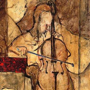 Gravura Coleção Música 30 x 30 cm Soft Cello