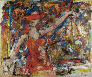 Obra Original Pintura sobre Tela, Justice, Acrílica, 140 x 170 cm