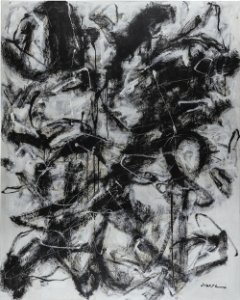 Obra Original Pintura sobre Tela, Noir D'ivoire, Acrílica, 167 x 135 cm