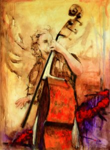 Obra de Arte Tela Powerful Cello 150 x 120 cm