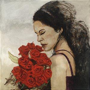 Quadro Tela Esther 115 x 115 cm