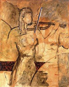 Quadro Tela Modern Violin 125 x 100 cm
