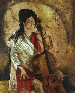 Quadro Tela Praise w strings 125 x 100 cm