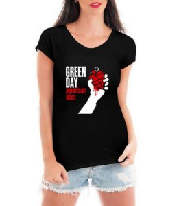 Camiseta Green Day American Idiot Feminina