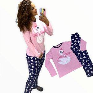 "Pijama Com calça - ""Made of Stars"" Mãe e Filha"