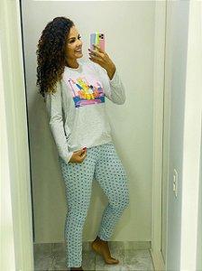 Pijama Com Calça e Manga Longa Simpsons