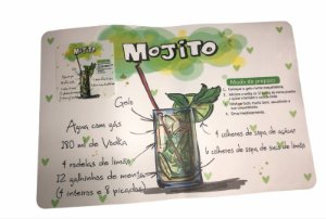 """Jogo Americano """" Mojito """""""