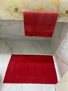 Kit Banheiro: Toalha de piso + Lavabo