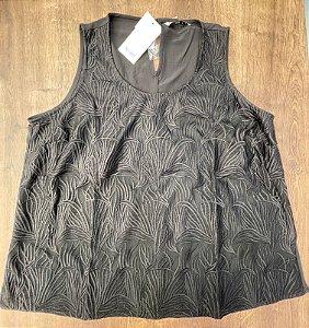 Camiseta Regata Preta Plus Size
