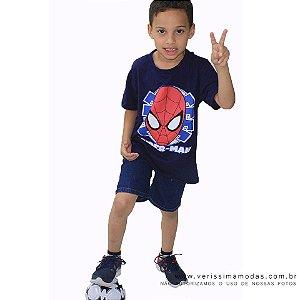 Camiseta personagens Azul Infantil