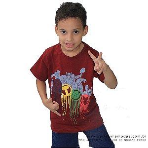 Camiseta Vingadores Vinho Infantil
