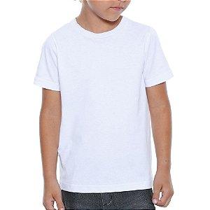 Camiseta Branca Básica Lisa Infantil