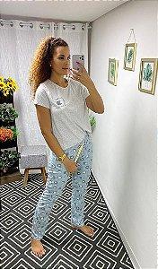 Pijama com calça VIVENDO NO LIMITE