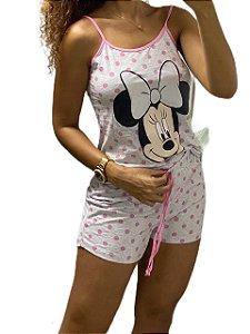 Pijama Short Doll Alcinha Bolinha
