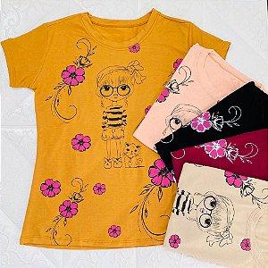 Blusa T-Shirt Adulto Estampa Boneca
