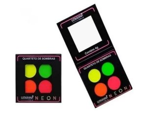Quarteto de sombras Neon alta pigmentalção Ludurana