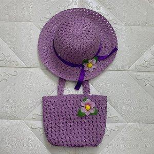 Chapéu e bolsa Infantil