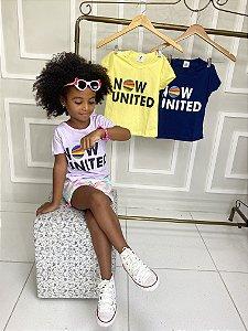 Camiseta Feminina Infantil  NOW UNITED