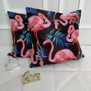 Kit 2 Capas de Almofada Flamingo