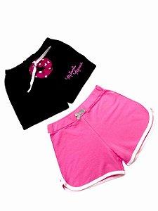 Kit 2 Shorts Infantil + Scrunchie