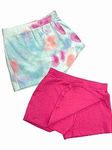 Kit 2 Shorts Saias Infantil