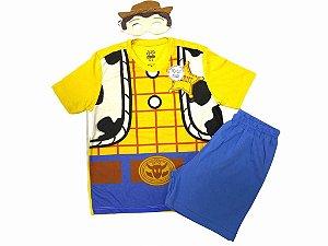 """Pijama Infantil Toy Story """"Woody"""" + Brinde"""
