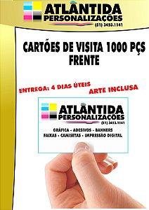Cartão de visita 1000 pçs 4X0 (Frente) - Supremo 250 gr