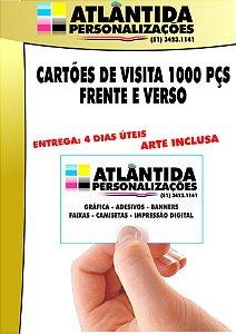 Cartão de visita 1000 pçs 4X4 (Frente/Verso) - Supremo 250 gr