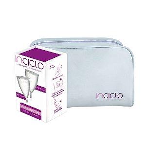 Inciclo Coletor Menstrual A (2 unidades) + Necessaire Branca