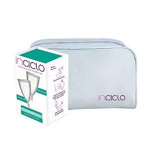 Inciclo Coletor Menstrual B (2 unidades) + Necessaire Branca