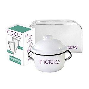 Kit Coletor Menstrual Inciclo B (2 unidades) + Panelinha + Necessaire