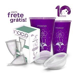 Kit Frete Grátis: 2 Coletores Menstruais B + 2 Lovin Disco Menstrual + 2 Copos Esterilizadores