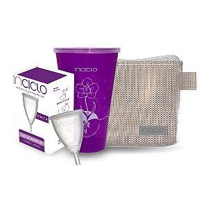 Kit Coletor Menstrual Inciclo  A +  Copo Esterilizador + Nécessaire Rose Glamour