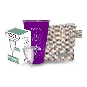 Kit Coletor Menstrual Inciclo B + Copo Esterilizador + Necessaire Rose Glamour