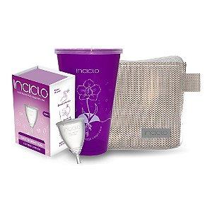 Kit Coletor Menstrual Inciclo Teen + Copo Esterilizador + Necessaire Rose Glamour