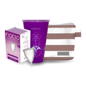 Kit Coletor Menstrual Inciclo Teen + Copo Esterilizador + Necessaire Vip Rose
