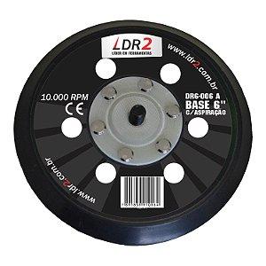 """Base para Lixadeira Pneumática 6"""" - COM Aspiração -  DR6-006-A LDR2"""