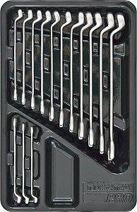 Módulo com Chaves Combinadas 14 Peças - Tramontina Pro