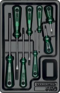 Módulo com Chaves de Fenda Easy Grip 8 Peças - Tramontina Pro
