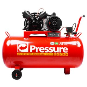 Compressor de Ar Móvel 10 Pés 100 Litros ATG2 Monofásico - Pressure