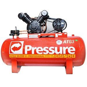 Compressor de Ar 20 Pés 200 Litros ATG3 Trifásico - Pressure